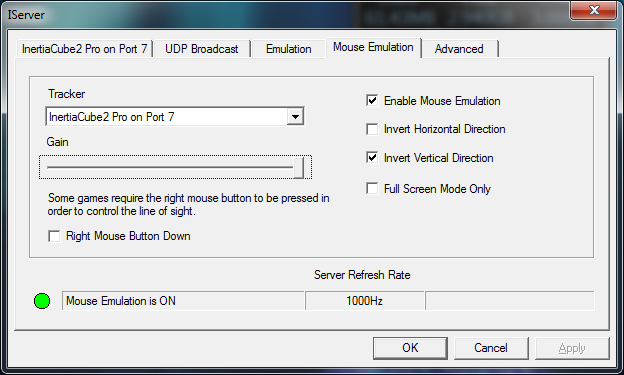 IServer mouse emulation