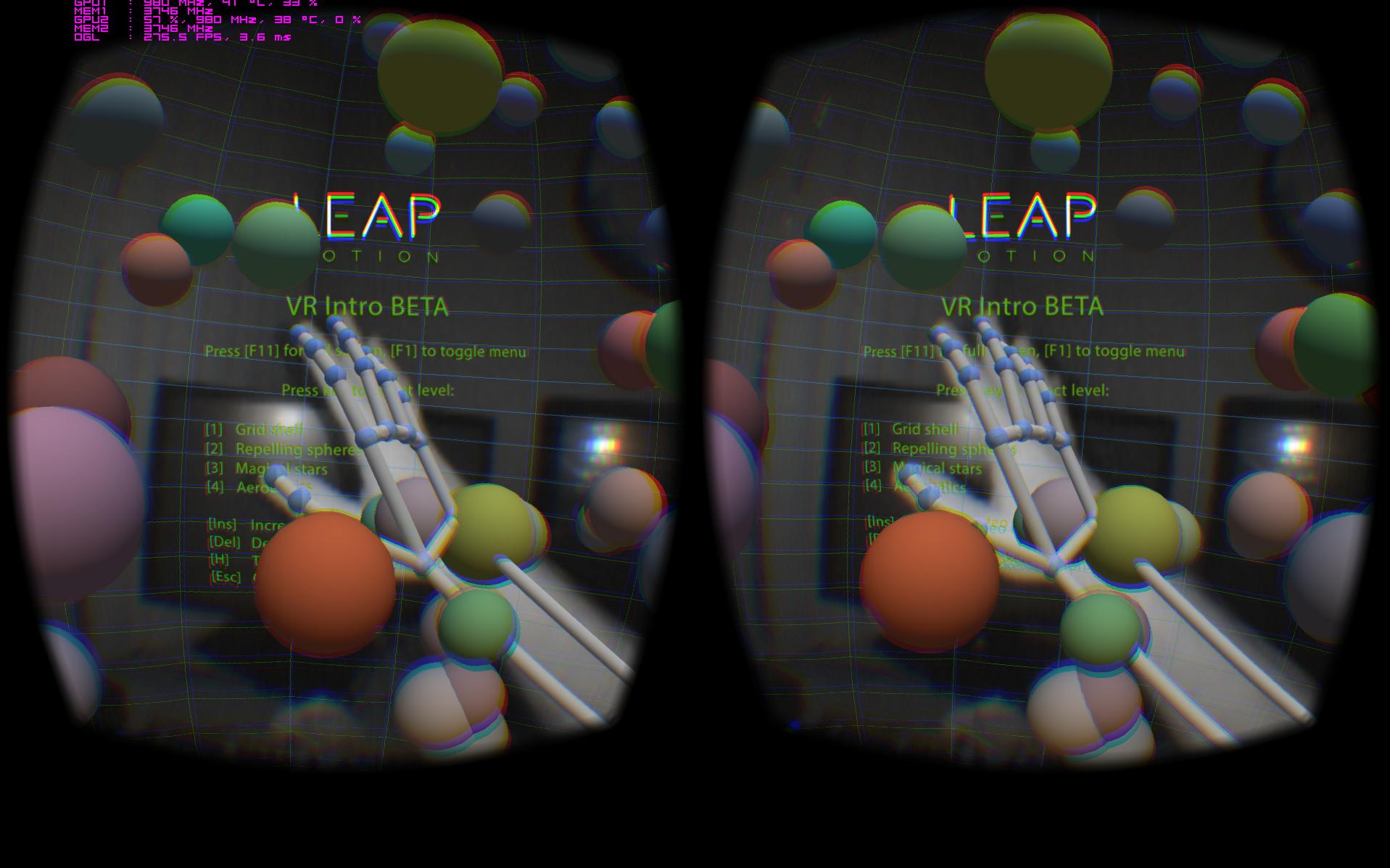 Leap VR DK2