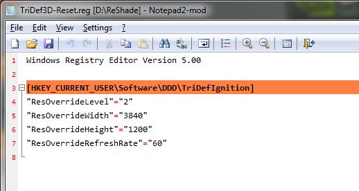 Tridef 3D Reg edits