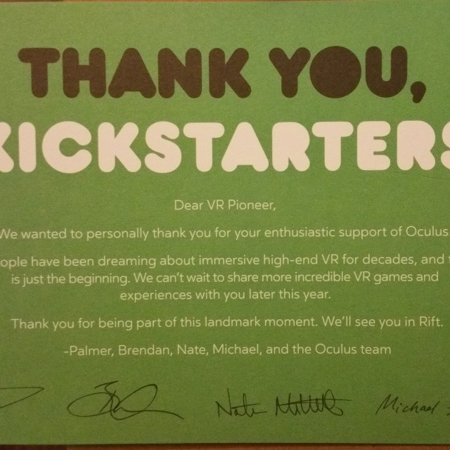 CV1 Kickstarter Message